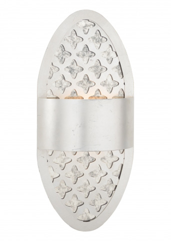 Chelsea House - Deco Pierced Sconce in Silver - 68935