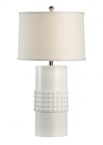 Chelsea House - Quatrafoil Lamp in White - 68945