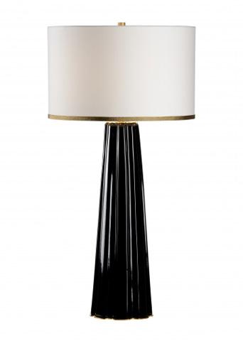Chelsea House - Scalloped Column Lamp in Black - 69003