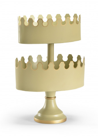 Image of Tiered Tole Planter in Beige