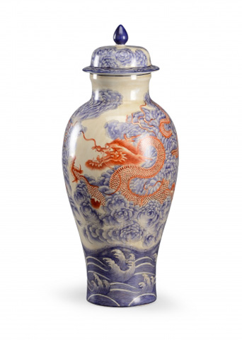 Image of Large Dragon Covered Jar