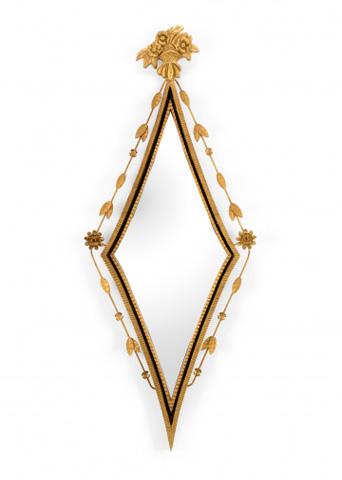 Image of Diamond Hall Mirror in Black