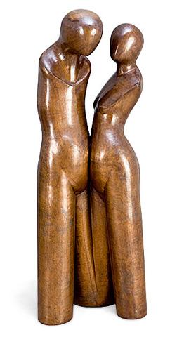Christopher Guy - Amoureux En Cuivre Statue - 46-0284