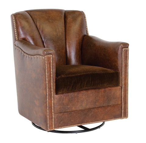 Classic Leather - Lombard Swivel Glider - 117766-SG