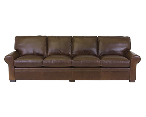 Classic Leather - Library Four Cushion Sofa - 11518-115