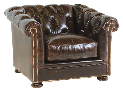 Classic Leather - Montclair Button Tufted Chair - 1381