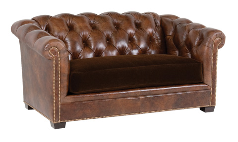 Classic Leather - Montclair Button Tufted Loveseat - 1382