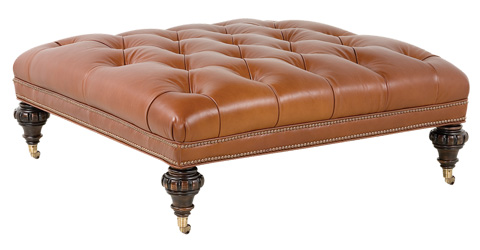 Classic Leather - Abbott Button Tufted Ottoman - 1612T