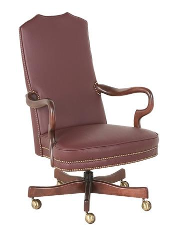 Classic Leather - Goose Neck Swivel-Tilt Chair - 606-ST