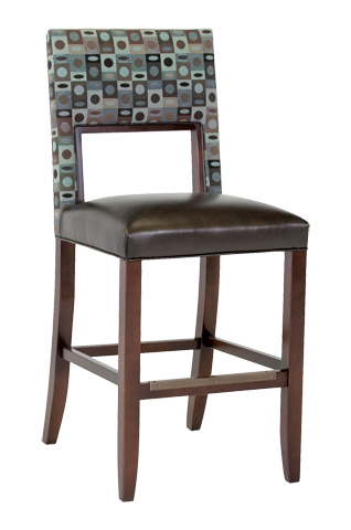 Classic Leather - Bauer Armless Bar Stool - 6106ABS