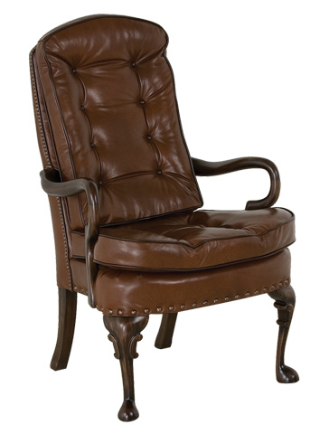 Classic Leather - Semi Attached Goose Neck Chair - 706