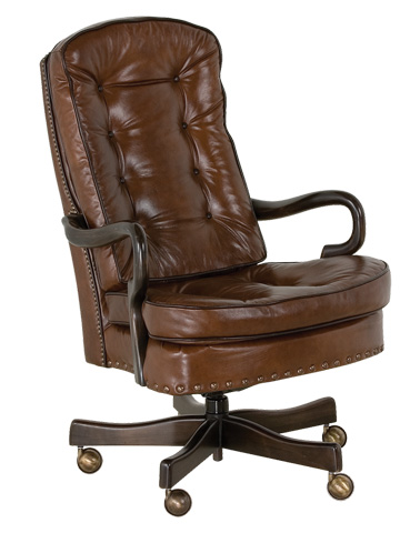 Classic Leather - Semi Attached Goose Neck Swivel-Tilt Chair - 706-ST