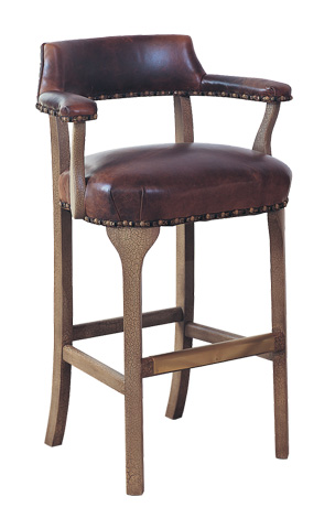 Classic Leather - George III Bar Stool - 7210