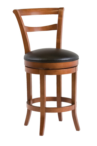 Classic Leather - Parker Armless Swivel Bar Stool - 7673ASB