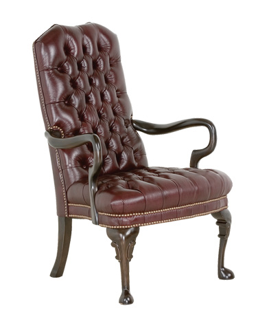 Classic Leather - Tufted Goose Neck Chair - 806
