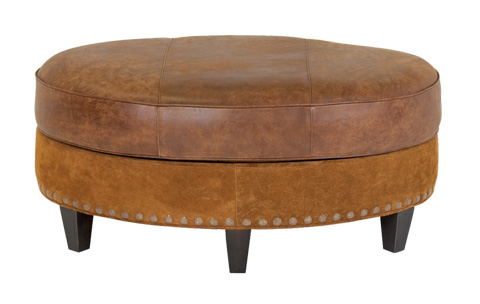 Classic Leather - Palermo Small Oval Ottoman - 8554-42