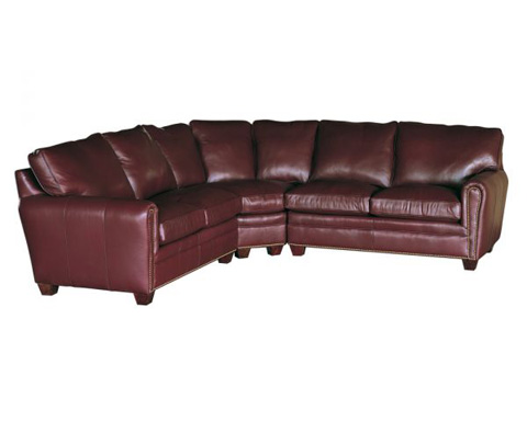 Classic Leather - Bowden Sectional - 11327/11326