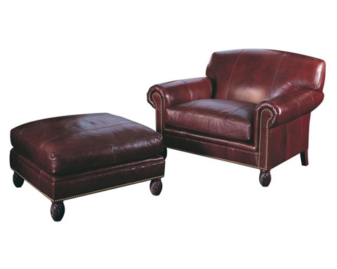 Classic Leather - Bonaire Chair and Ottoman - 2204/2205