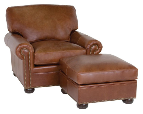 Classic Leather - McCall Chair and Ottoman - 3510/3511