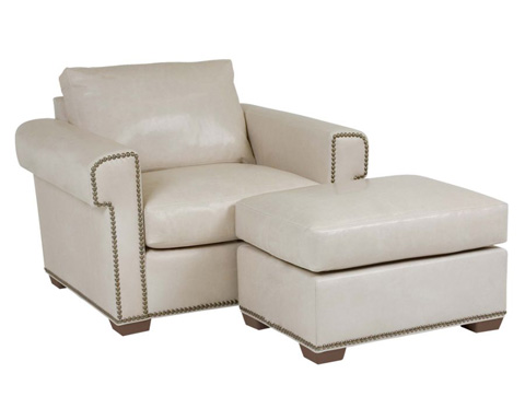 Classic Leather - McGrath Chair and Ottoman - 4725/4726
