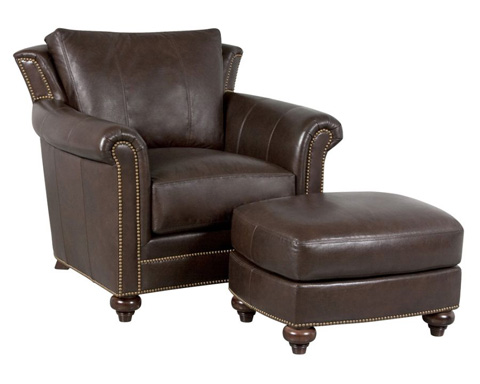 Classic Leather - Tanner Chair and Ottoman - 4800/4801