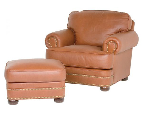 Classic Leather - McGuire Chair and Ottoman - 550/551
