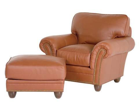 Classic Leather - Keswick Chair and Ottoman - 690/691