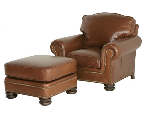 Classic Leather - Provost Chair and Ottoman - 8050/8051