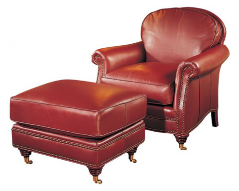 Classic Leather - Paddington Chair and Ottoman - 8055/8056