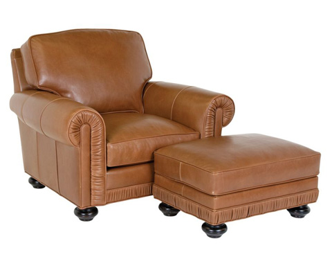Classic Leather - Chambers Chair and Ottoman - 8205/8206