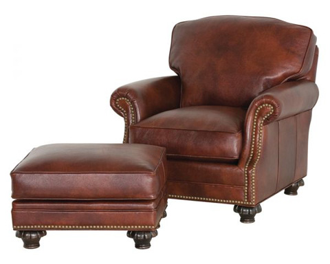 Classic Leather - Whitley Chair and Ottoman - 860/861