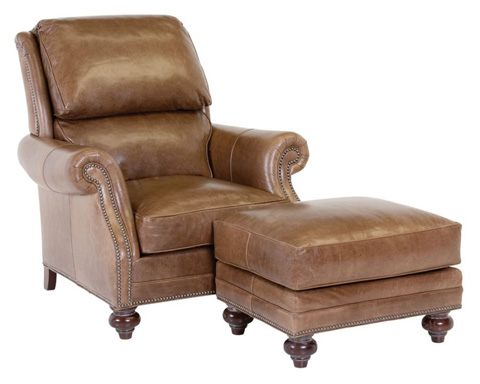 Classic Leather - Purcell Chair and Ottoman - 8605/8606