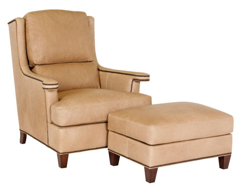 Classic Leather - Carmel Chair and Ottoman - 8615/8616