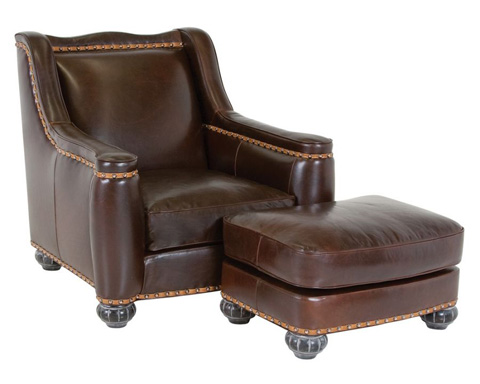 Classic Leather - Chelsea Chair and Ottoman - 8625/8626