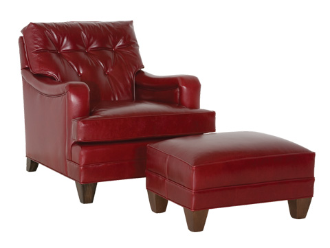 Classic Leather - Classic Club Chair and Ottoman - 11130
