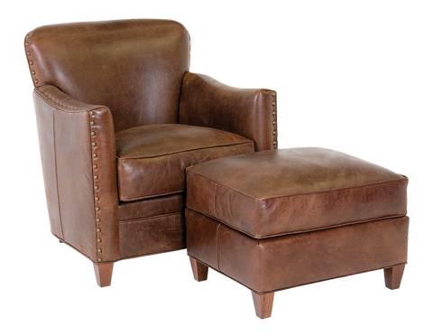 Classic Leather - Card Room Club Chair and Ottoman - 117795