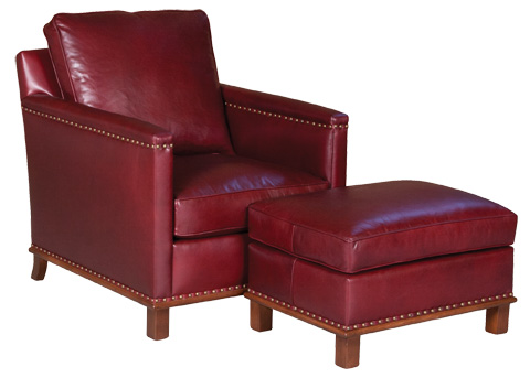 Classic Leather - Lindsay Chair and Ottoman - 20