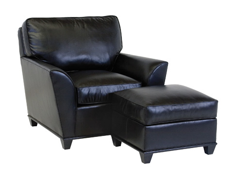Classic Leather - Kramer Chair and Ottoman - 25