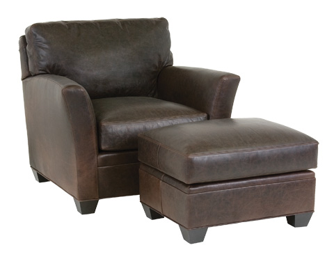 Classic Leather - Fletcher Chair and Ottoman - 45