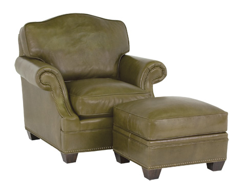 Classic Leather - Murano Chair and Ottoman - 86-22-AB
