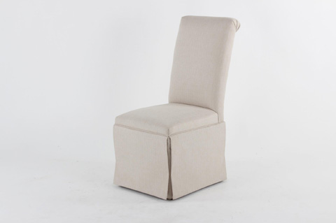 Image of Roll Back Skirted Side Chair