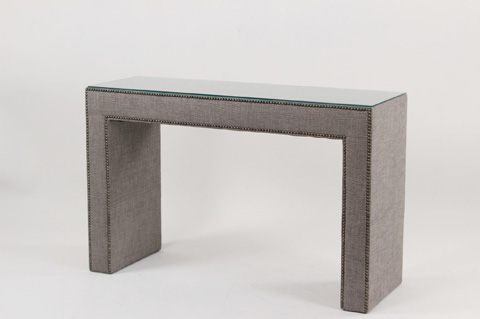 Image of Upholstered Console Table