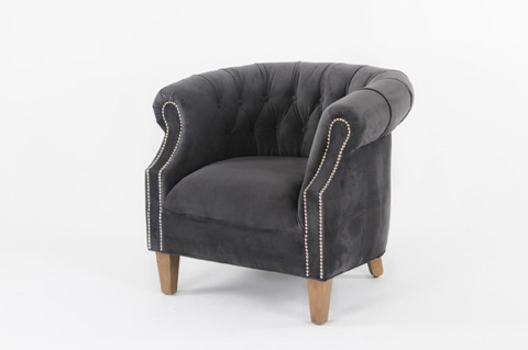 Image of Tufted Barrel Chair