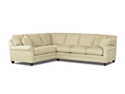 Comfort Design Furniture - Loft Sectional - CL4032L CRNS/CL4032R S