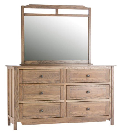 Image of Shoreham Six Drawer Dresser and Mirror