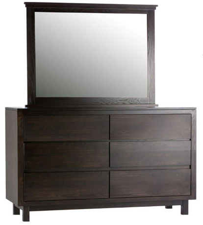 Image of Lakewood Six Drawer Dresser and Mirror