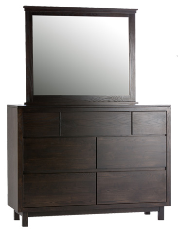 Image of Lakewood Seven Drawer Dresser and Mirror