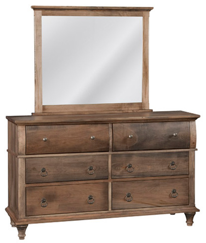 Image of Madison Six Drawer Dresser and Mirror