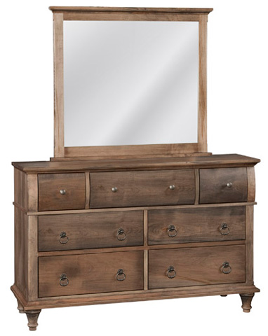 Image of Madison Seven Drawer Dresser and Mirror