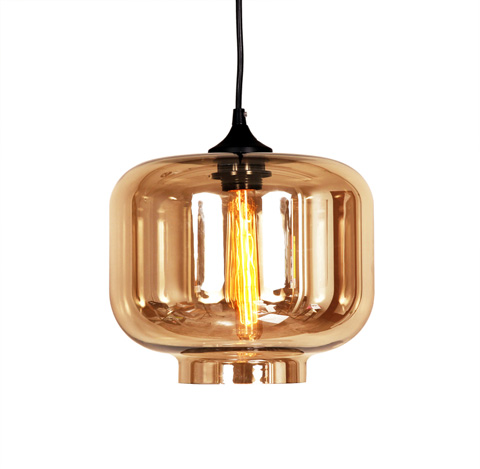 Image of The Bergen Pendant in Brown Tint